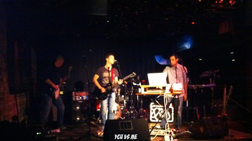 You vs Me at The Velvet Underground Dec 2011 - Mykle and ChrisP - stage